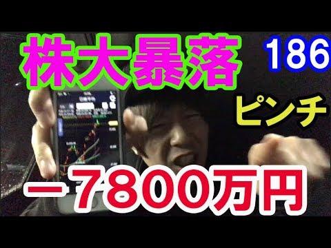 【株式投資実践中】-7800万円!2019年日本株は、大暴落する!大予想!2019.11.11