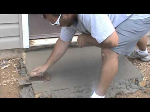 How to pour a concrete slab  Please See Description
