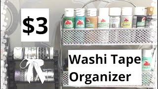 $3 Dollar Tree Organization Idea DIY |Washi Tape