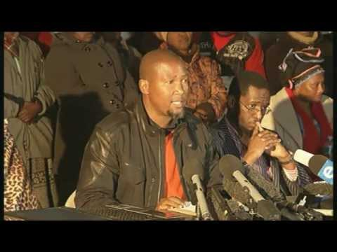 Former president Nelson Mandela's grandson Chief Mandla Mandela's media briefing in Mvezo in the Eastern Cape has started. This as the remains of three of Ma...