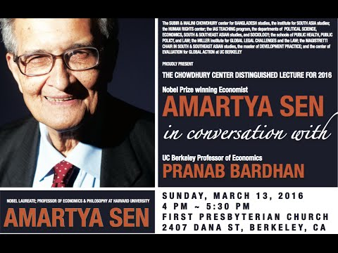 The 2016 Chowdhury Center Distinguished Lecture by Amartya Sen