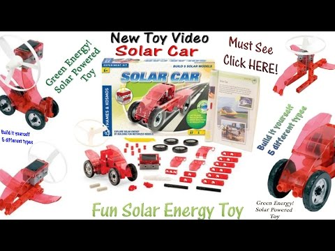 Fun Solar Car Toy Runs On Solar Energy! 5 Types of vehicles in 1 Olaf And Elsa Play With The Car