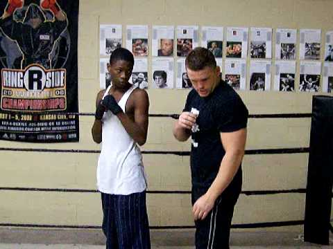 Boxing Training Defense Workout Tennis Ball Chin Tuck Drill. Image 1
