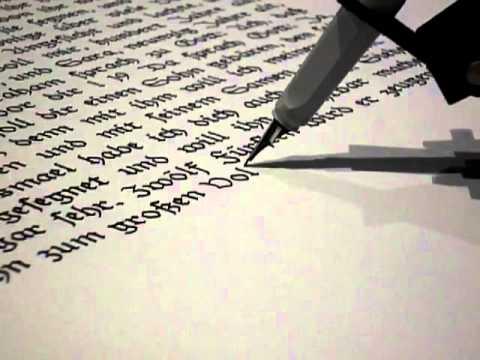 Robot escribe la Biblia con caligrafía medieval