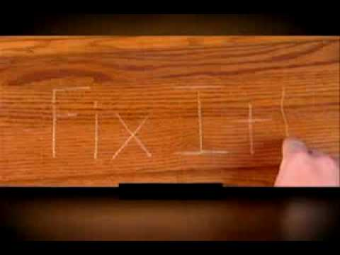 fix it wood commercial as seen on tv chat video youtube. Black Bedroom Furniture Sets. Home Design Ideas