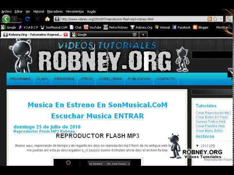Super Reproductor Flash MP3 Para Web Con Lista XML