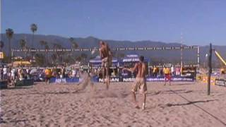 Phil Dalhausser shows how to hit on two.