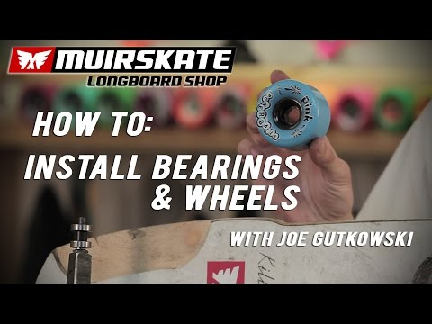How To: Install Bearings and Wheels with Joe Gutkowski | MuirSkate Longboard Shop
