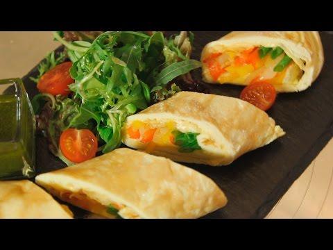 Французский омлет с сыром и овощами. Рецепт от шеф-повара.