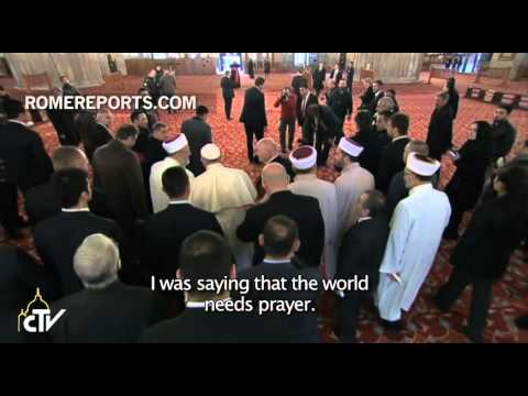 "Pope Francis to Grand Mufti of Istanbul: ""Pray for me"""