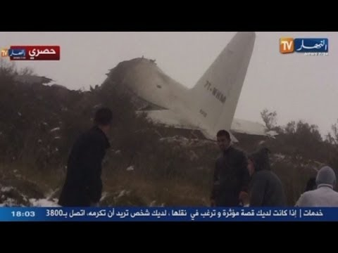 Dramatic plane crash footage: 77 people killed after plane crashes into mountain in Algeria