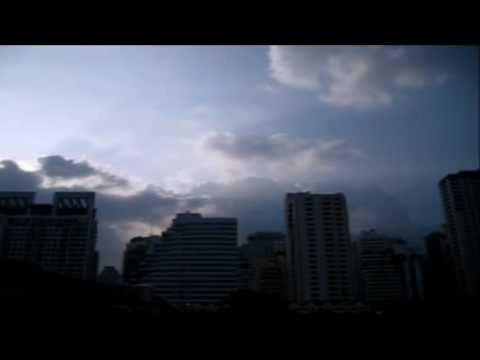 Time lapse Bangkok, city scape clouds