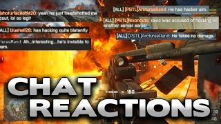 "Battlefield 4 ""He has hacker aim"" - Chat Reactions"