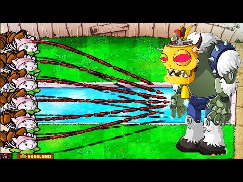 Plants vs Zombies Hack - 1 Cattail Wall-nut vs Dr- Zomboss