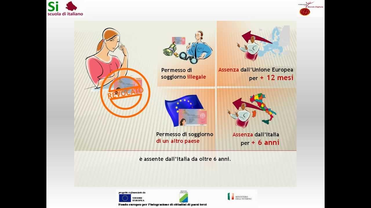 11 il permesso di soggiorno ce per soggiornanti di lungo for Test italiano per carta di soggiorno 2016