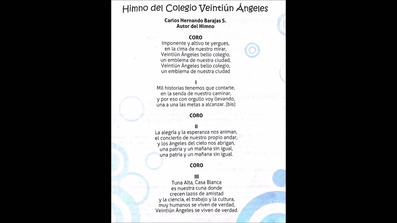 Himno Colegio 21 Veintiun
