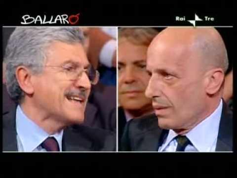 Ballarò - Volano parole forti tra Massimo D'Alema ed Alessandro Sallusti - 04/05/2010