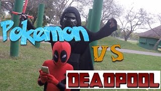KID DEADPOOL DESTROYS POKEMON GO!!!