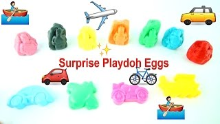 Cars Train Vehicles Lego Learn Colors with Surprise Playdoh Nursery Rhymes Fun Songs for Children