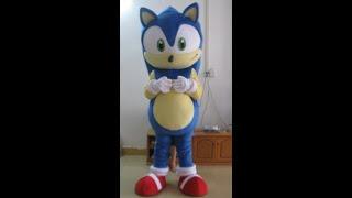 Adult Sonic x Hedgehog Mascot Costume for Entertainment Sonic Mascotte Custom Mascots ArisMascots