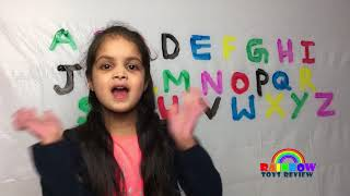 ABC SONG Nursery Rhyme for Kids, Toddlers Learning Alphabets with Paints Learn Colors for Children