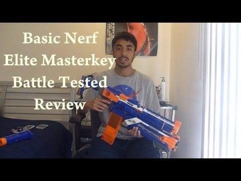 Nerf Elite Masterkey/Stryfecut Battle Tested Review (w/Game Footage)