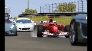 Ferrari F1 2004 Michael Schumacher vs Supercars at  Zandvoort