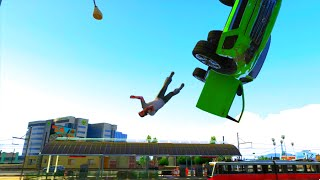 GTA V Unbelievable Crashes/Falls - Episode 34