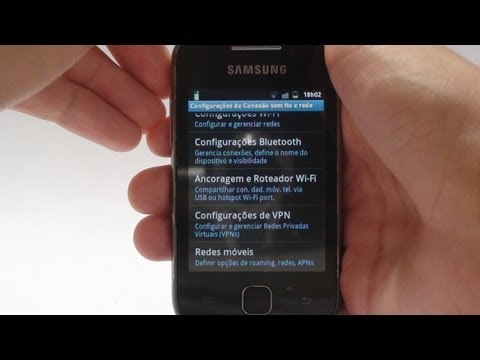Como usar seu Android como Roteador Wi-Fi - Galaxy Y
