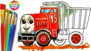 coloring thomas and friends monty dump truck learning and coloring page thomas the tank engine