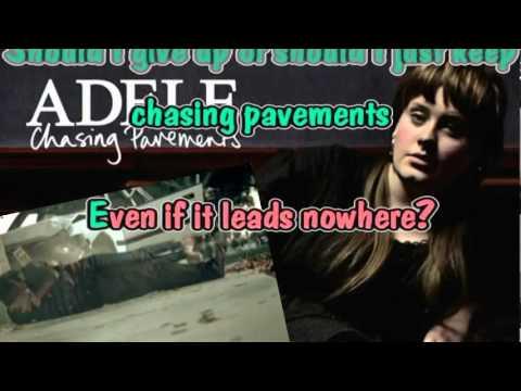 Download Chasing Pavements Karaoke Mp3