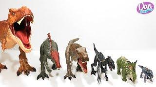 BIGGEST TO SMALLEST Dinosaur Toys from JURASSIC WORLD FALLEN KINGDOM Mattel for Kids!