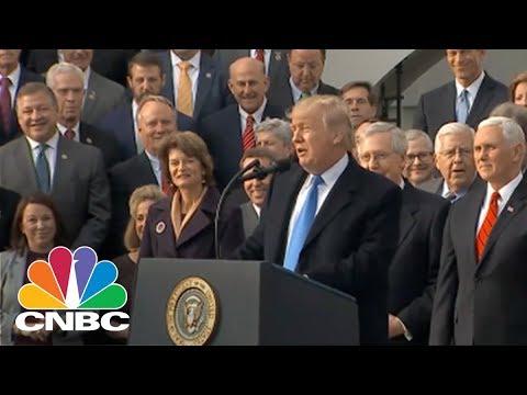 President Donald Trump Congratulates GOP Leaders On Tax Bill Victory | CNBC