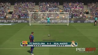 PES 2017 - Shootout Penalty  Kicks [ FC Barcelona Vs Real Madrid ]  PS4 Gameplay