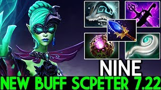 NINE [Death Prophet] New Buff Scpeter Unlimited Exorcism Imba Meta 7.22 Dota 2