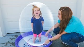 Trapped Inside A Giant Bubble!!