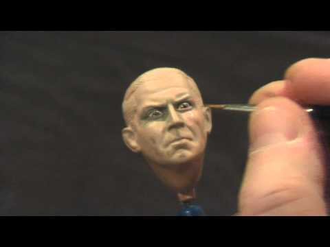 Painting a Large Scale Figure without an Airbrush Part 2 - The Face