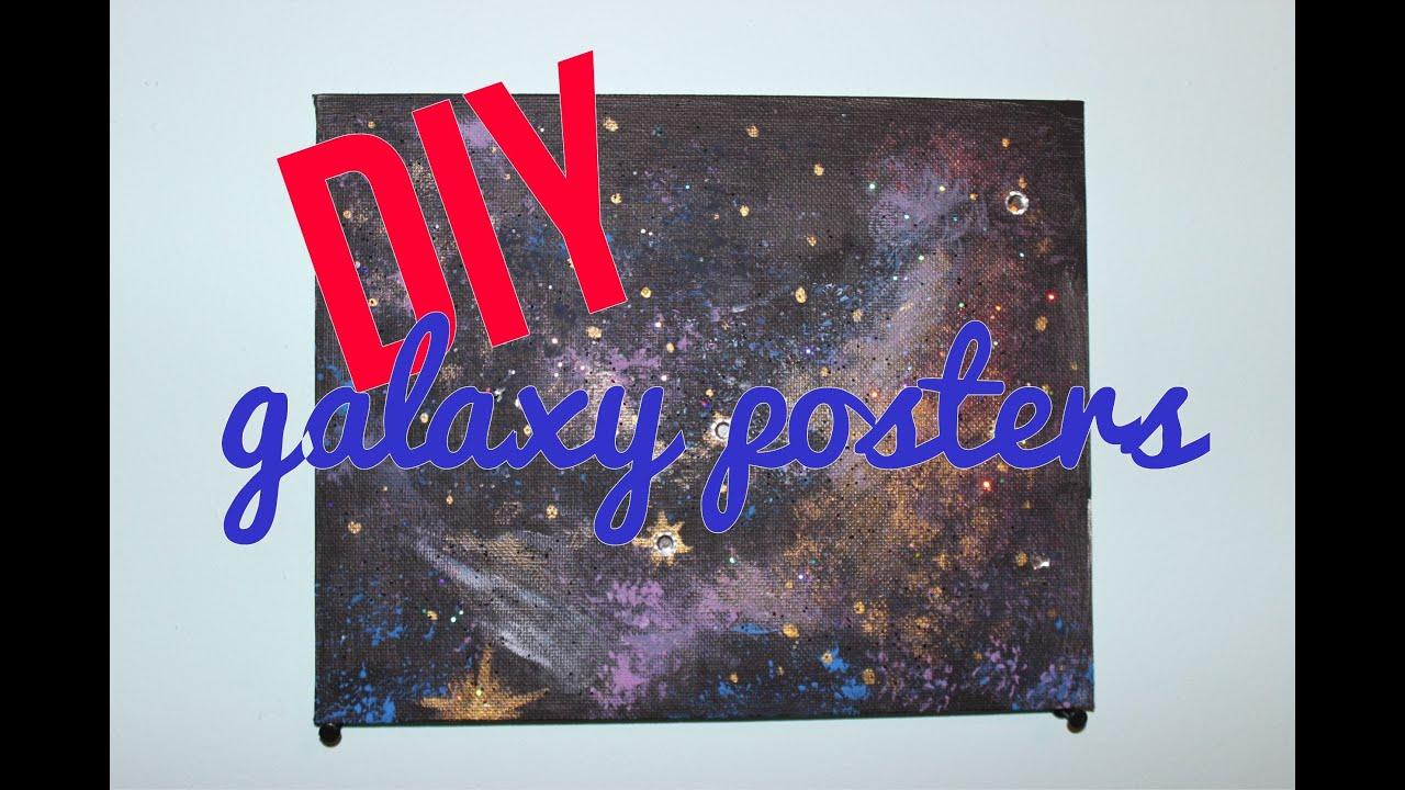 Diy galaxy posters youtube