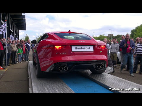 Jaguar F-Type R Coupe - Brutal Revs & Backfiring Sound!
