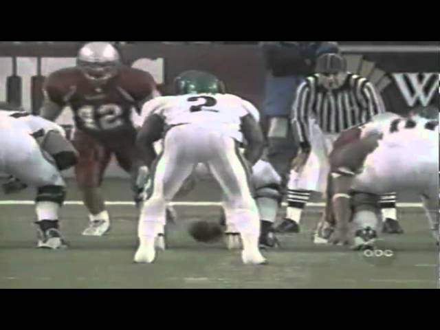 Oregon RB Onterrio Smith plows over a WSU defender for a TD 19027-2001