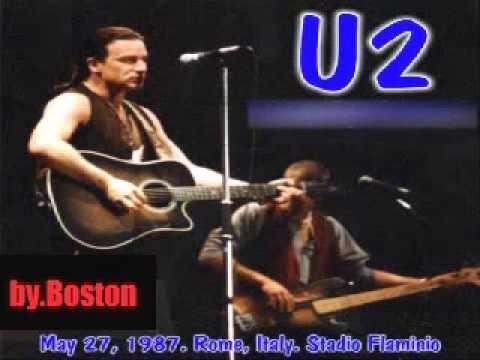 U2 Live 1987 Rome,  Stadio Flaminio full concert mp3