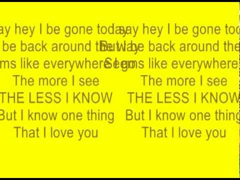say hey i love you with lyrics  Michael Franti and spearhead