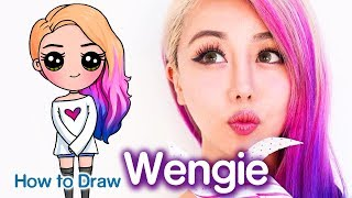 How to Draw Wengie Easy Chibi | Famous Youtuber