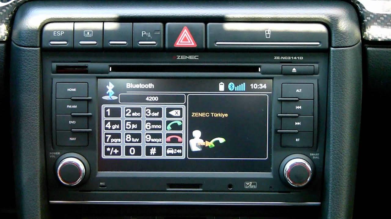 ZENEC ZE-NC3141D AUDI A4 (B7) ve SEAT EXEO Bluetooth Tanıtım Videosu - YouTube