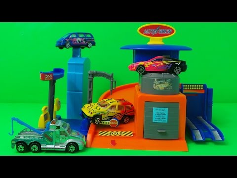 VANCOUVER CAR WASH / AUTO SHOP GARAGE, WITH TOW TRUCK, SPORTS CAR, SUV & MINI VAN