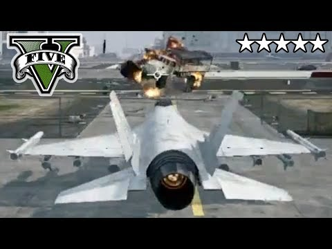 GTA 5 Stealing JET FIGHTER PLANE ONLINE!!! Livestream - GTA V Crew (Subs)