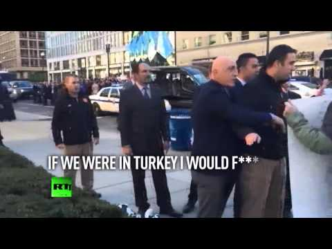 Erdogan guards have a howlin' good time in DC