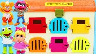 Learn Colors Helping Disney Muppet Babies Kermit Find Muppet Friends