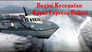 Begini rasanya menyeberang dengan kapal cepat express bahari
