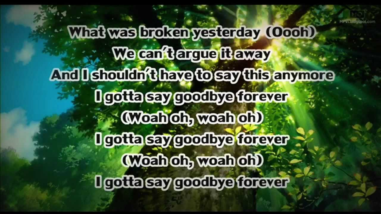 goodbye forever lyrics: